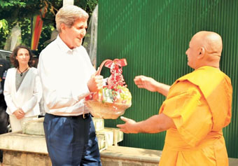 Secretary of State John Kerry visited one of the most significant Buddhist temples in Sri Lanka. Dr. Tellechea organized and coordinated this event working with high Buddhist clergy and U.S. government officials.