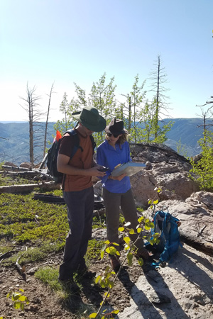PhD in Anthropology Arianna and Ian conducting field work with Dr. Jason Sibold