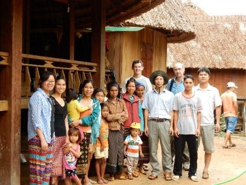 Eric Rounds, and Professor Stephen Leisz conducting international fieldwork in Quang Tri, Vietnam