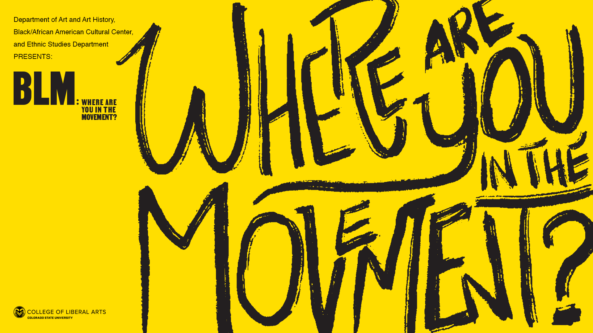 Where are You in the Movement? Yellow and Black Poster Image