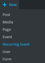 Screenshot - Add new reoccurring