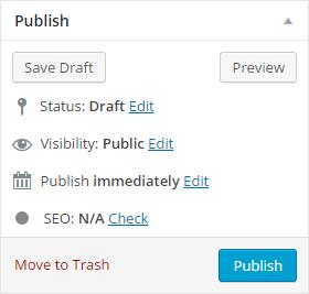 Screenshot - to publish changes