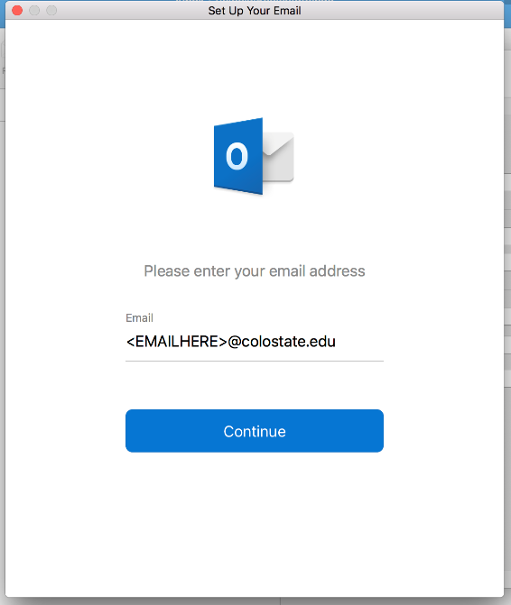 Screenshots - Outlook email login prompt