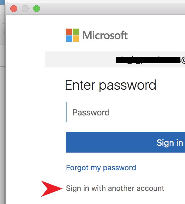 Screenshots - Microsoft password prompt