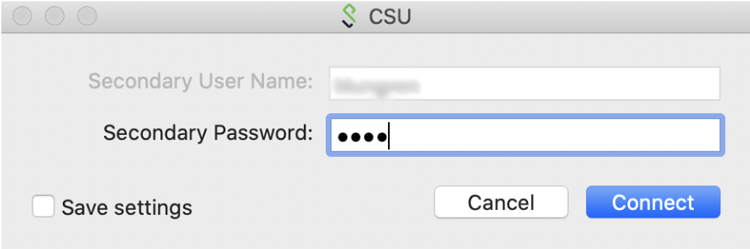 2nd login for PulseSecure on Mac