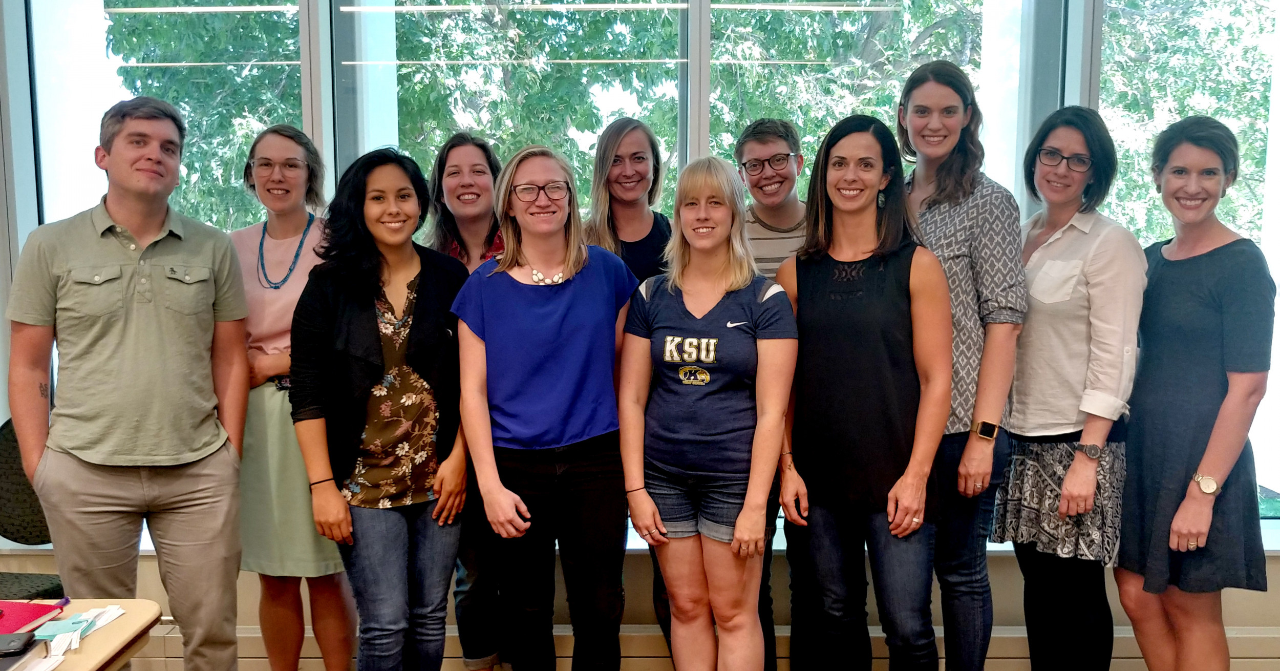 Group photo of writing retreat participants