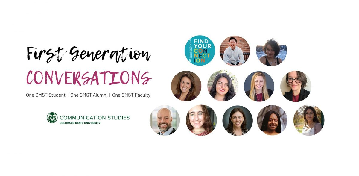 headshots of students and alumni participating in first generation conversations