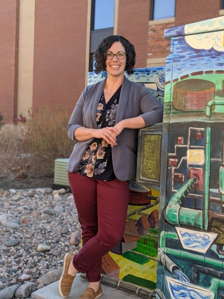 Meaghan Overton standing outside City of Fort Collins building