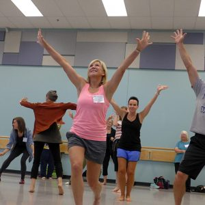 Music Educators dance in the studio