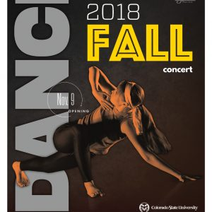 Fall Dance Concert promotional poster