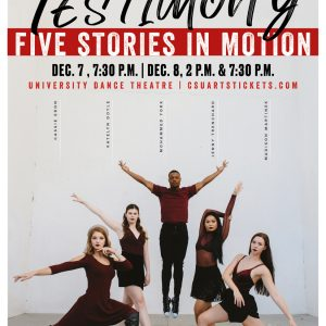 Fall Dance Capstone Concert 2018 Promotional Poster