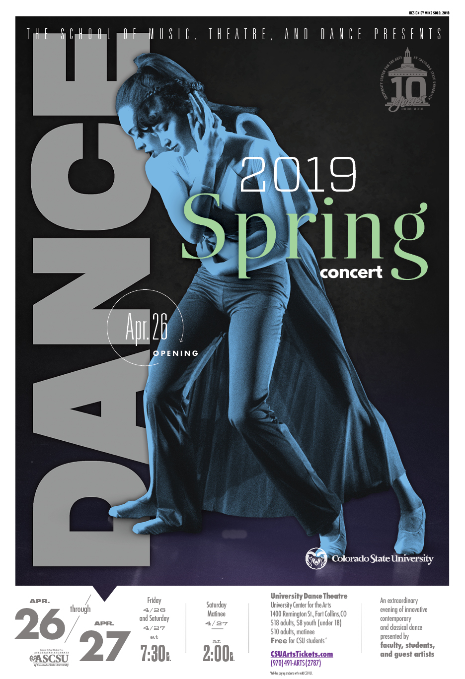 Spring Dance Concert promotional poster 2019