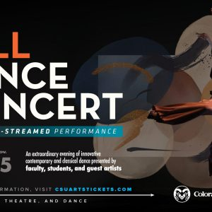 2020 Fall Dance Concert promotional screen