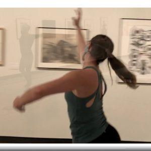 dancer in museum