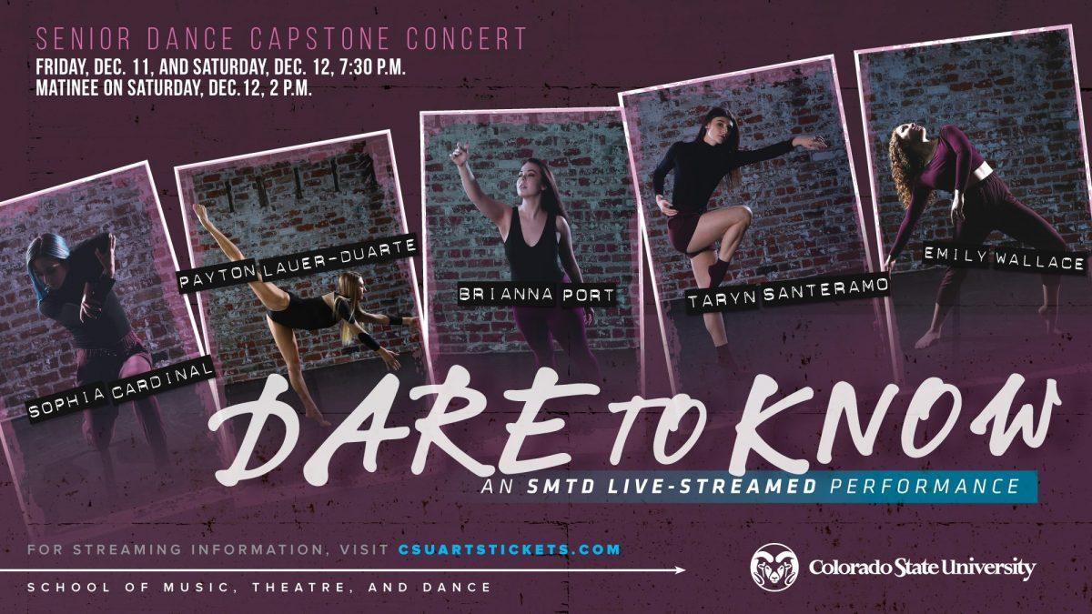 LIVESTREAM: Fall 2020 Dance Capstone- Dare to Know