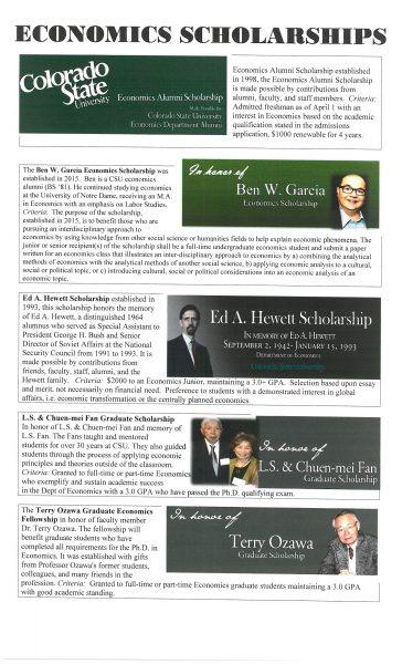 econ scholarships