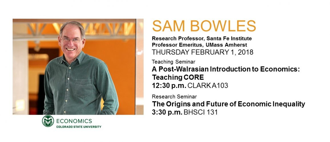 Dr. Sam Bowles seminar