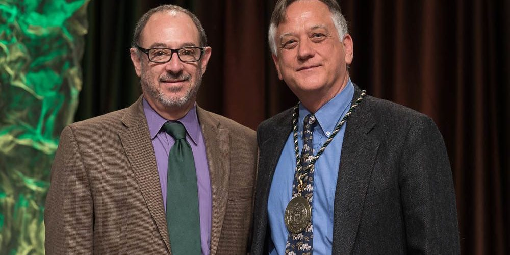 Ed Barbier with Rick Miranda - University Distinguished Professor