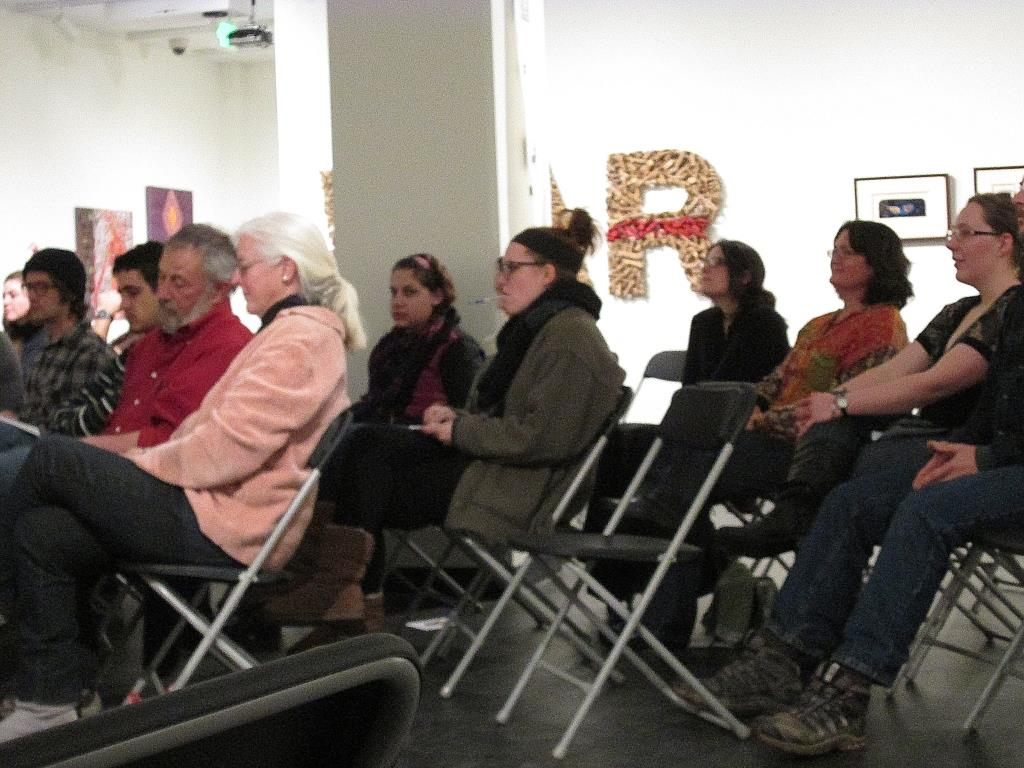 Some of the audience at the reading that night