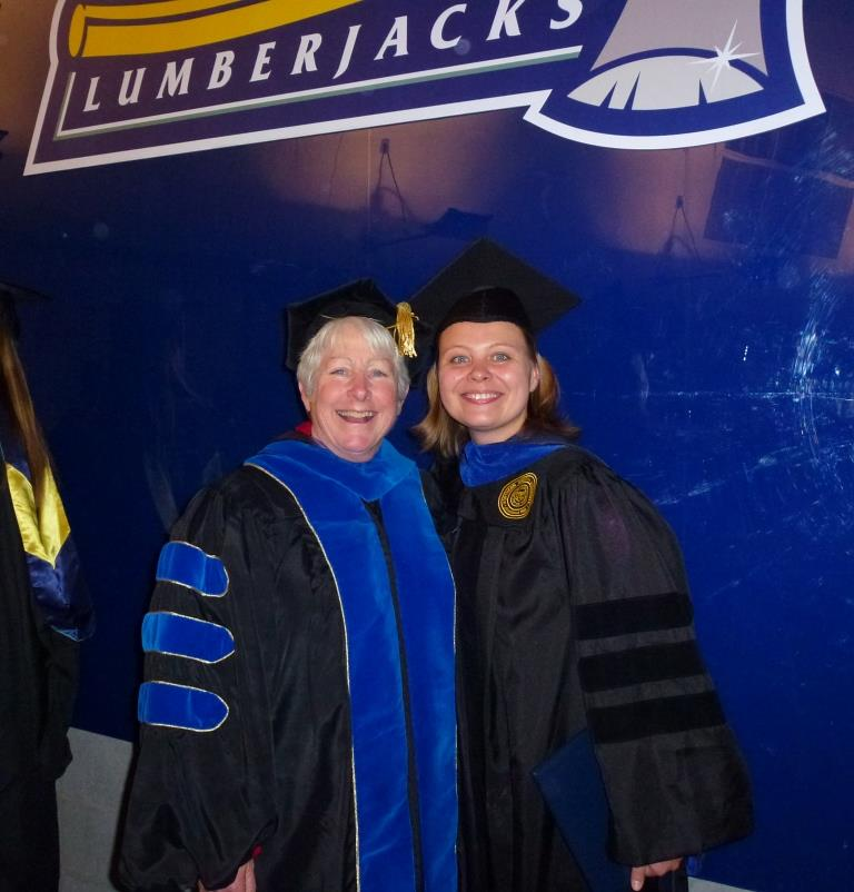Tatiana with her dissertation co-director and mentor, NAU professor Joan Jamieson