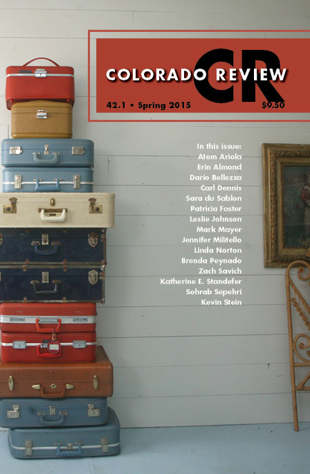 Colorado Review Spring 2015 issue, cover design by Abby Kerstetter