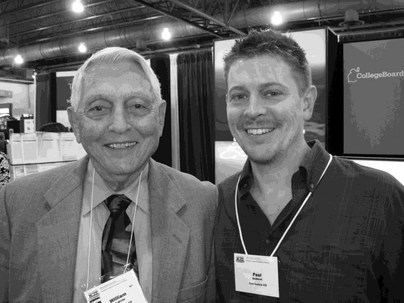 Bill McBride and Paul De Maret at the 2009 NCTE Convention in Philadelphia, where Bill received the Distinguished Service Award from the National Council of Teachers of English