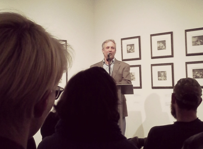 Peter Heller reading in the Art Museum at the UCA