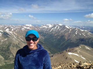kristie on mt. elbert