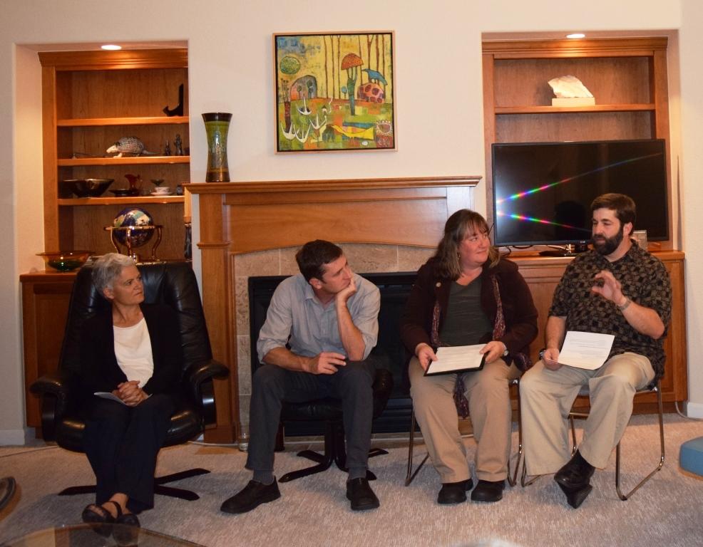 Presenters Ellen Burns, Dan Beachy-Quick, Tobi Jacobi and Ed Lessor