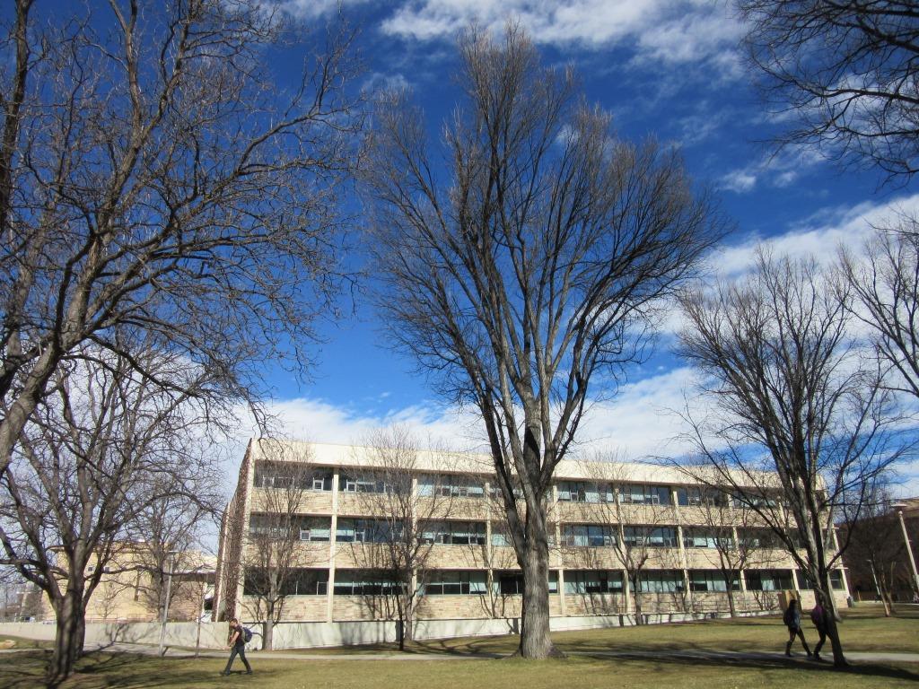 Blue skies over Eddy Hall