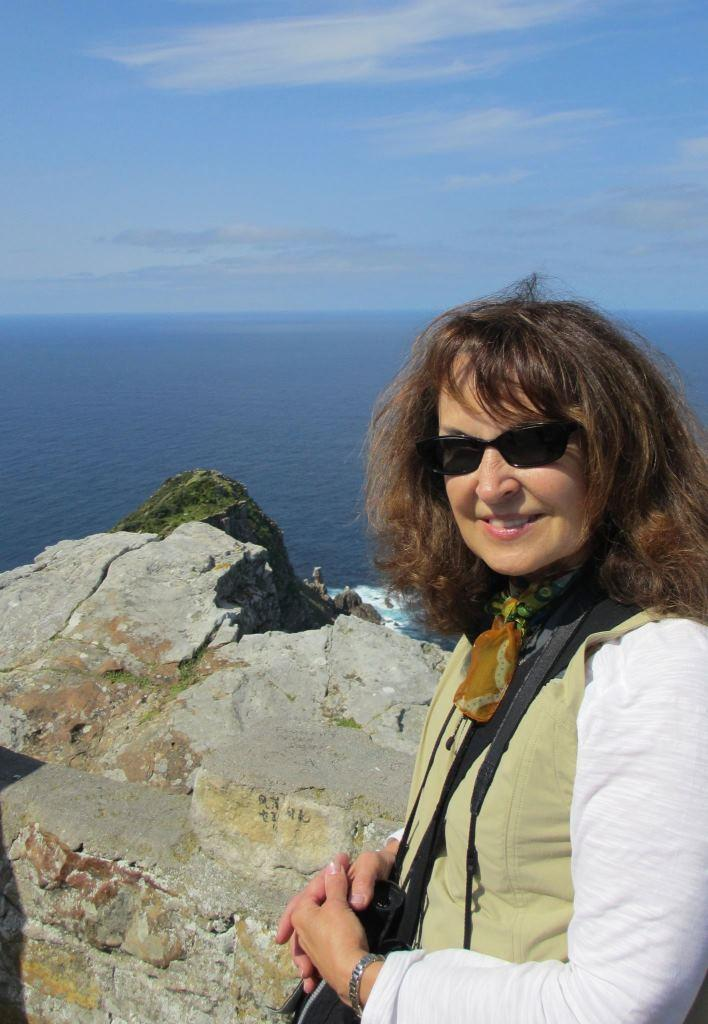 Deanna Ludwin, at Cape Point, Cape of Good Hope, South Africa