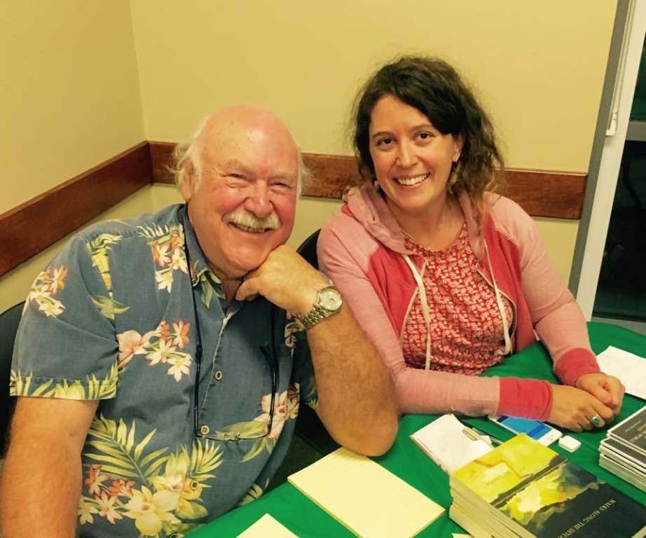 Sara Jane Sloane took a picture of Bill and Chloe signing books.