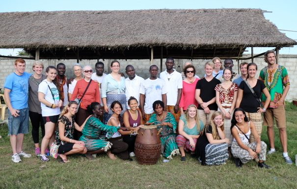 Drumming class in Takoradi, Ghana.