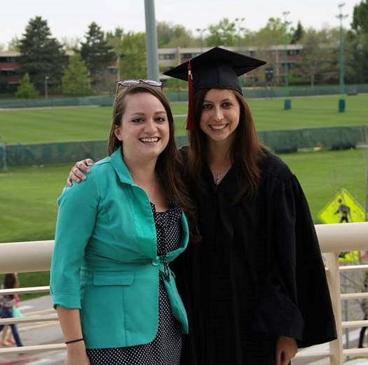 Chelsea and her sister at graduation