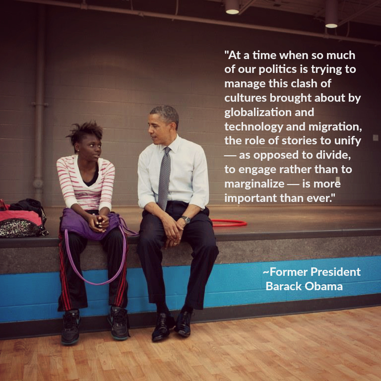 President Barack Obama talks to kids during a stop at the Boys and Girls Clubs of Cleveland on Broadway Avenue in Cleveland, Ohio, June 14, 2012. (Official White House Photo by Pete Souza) President Barack Obama talks to kids during a stop at the Boys and Girls Clubs of Cleveland on Broadway Avenue in Cleveland, Ohio, June 14, 2012. (Official White House Photo by Pete Souza)