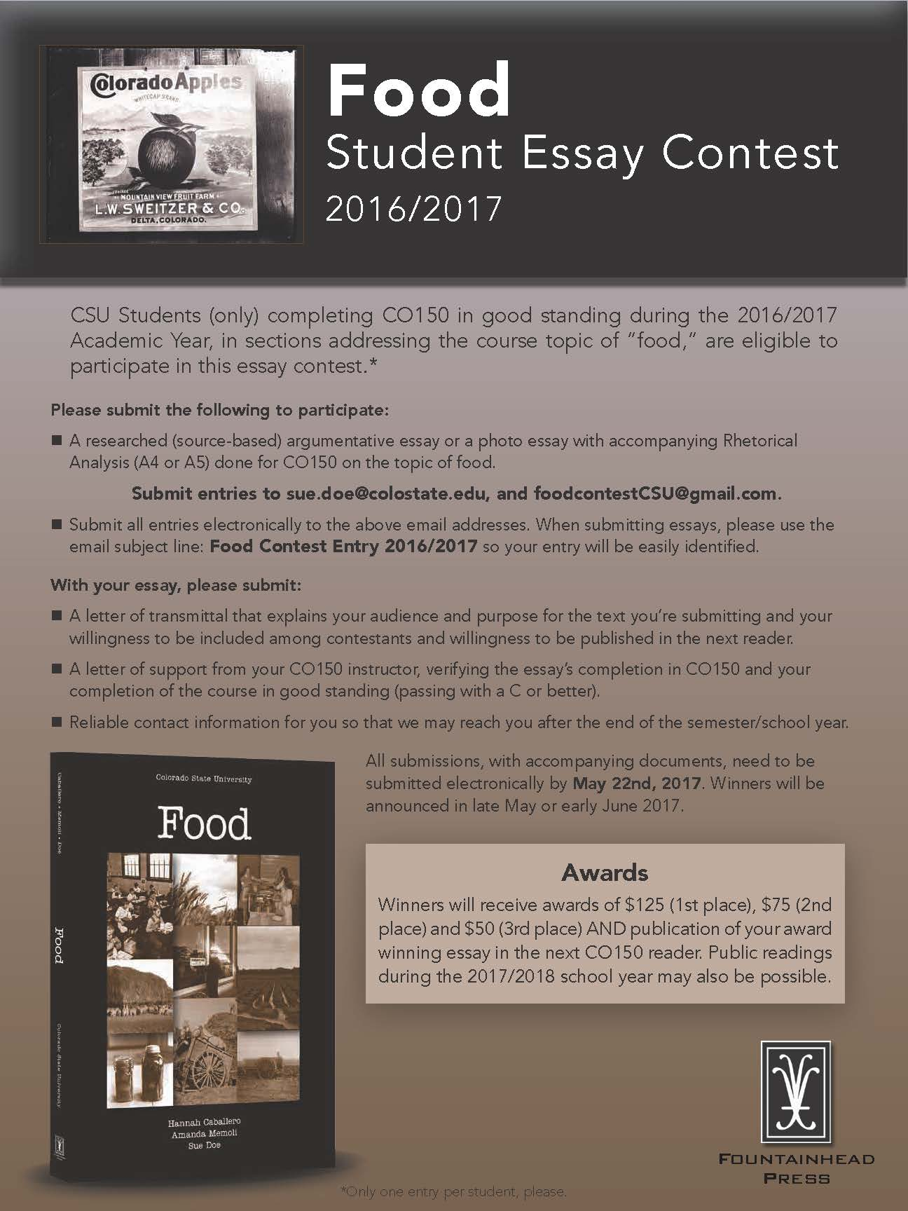 food student essay contest 2016 2017 department of english post navigation