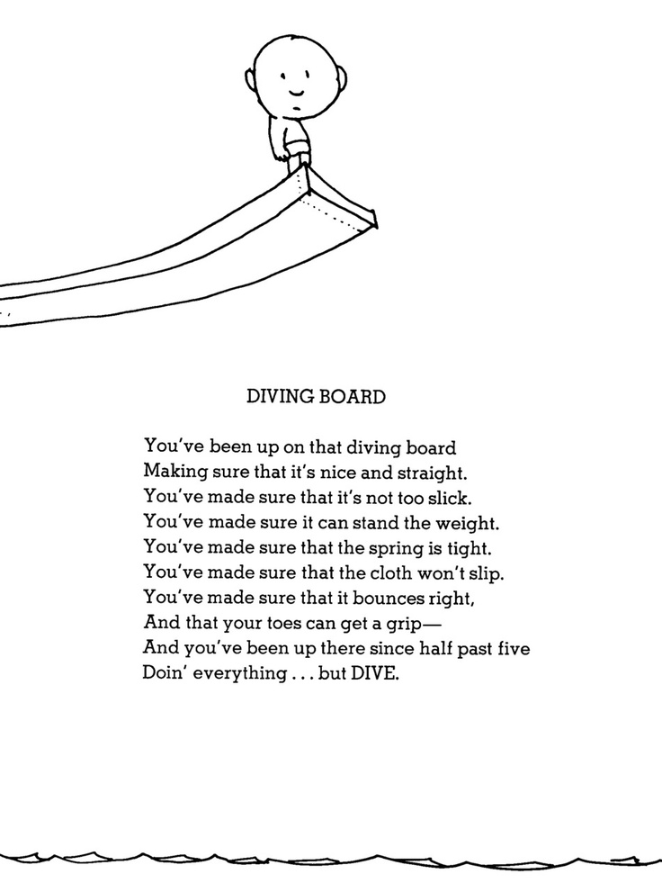 Diving Board A Poem By Shel Silverstein This Is My Life Anyone