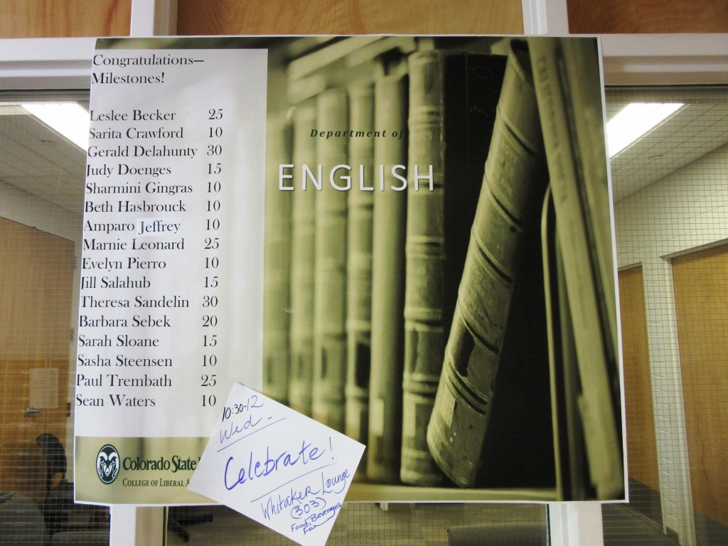 poster for English department