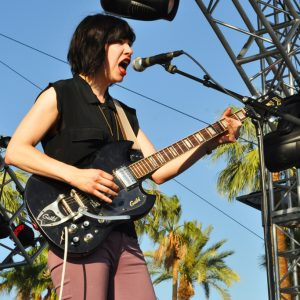 Carrie Brownstein of Wild Flag, Coachella 2012, Day three, Sunday, April 22, 2012