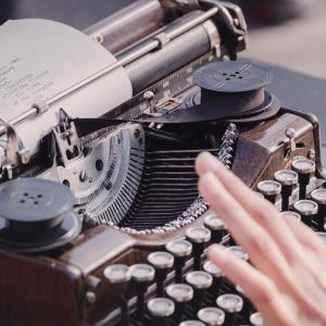 Poetry on a typewriter