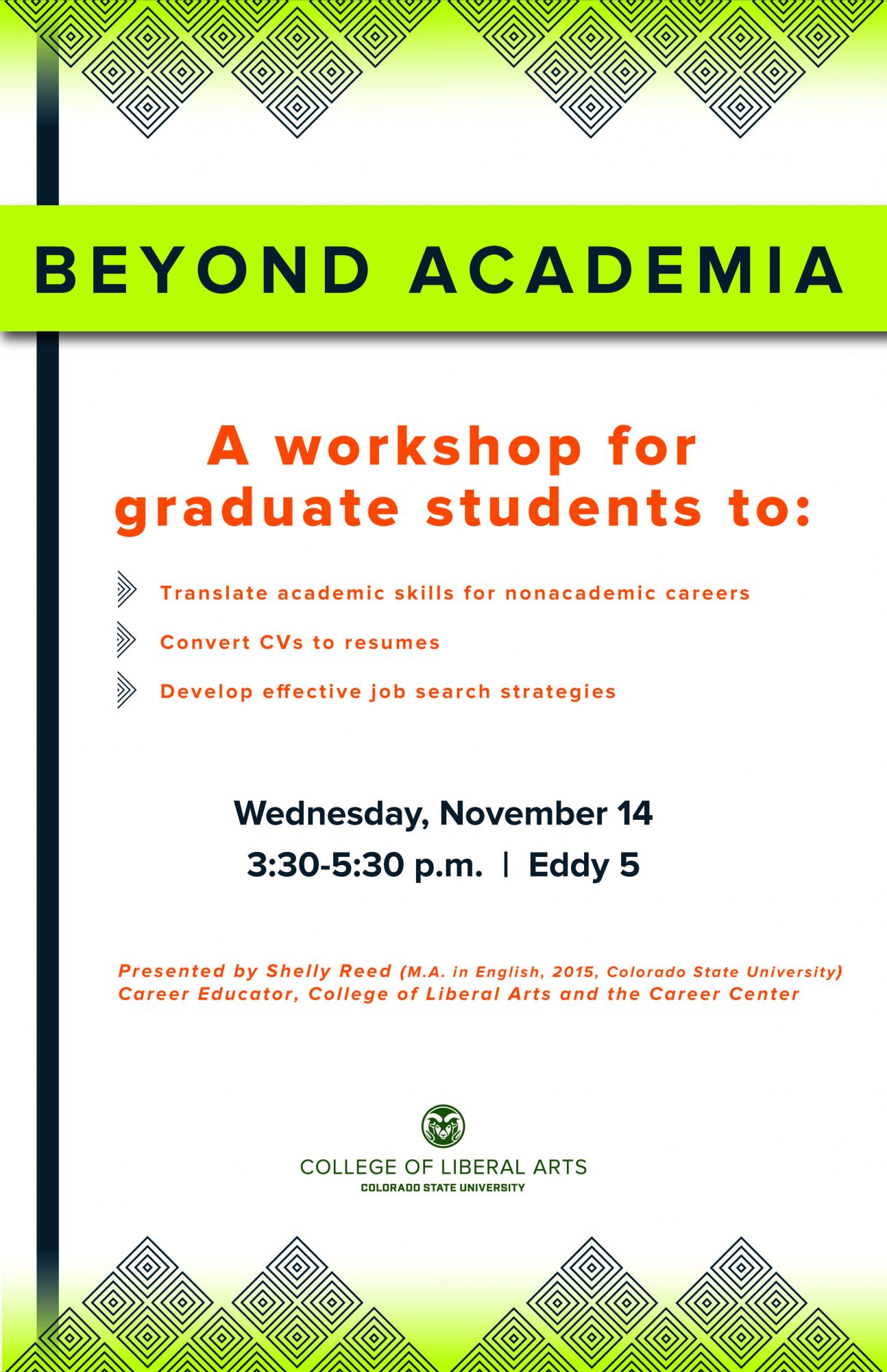 Grad workshop poster final - English | Colorado State University