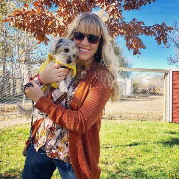 Lindsay Brookshier and her dog, Lucky