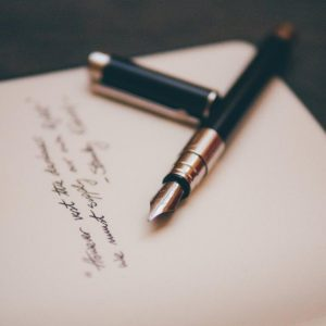 Fountain pen on stationary