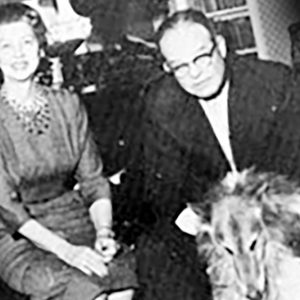 William and Lila Morgan with collies