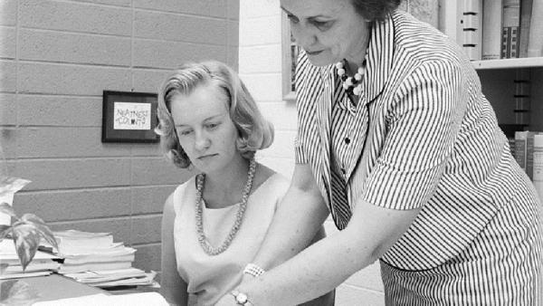 Martha Trimble with student