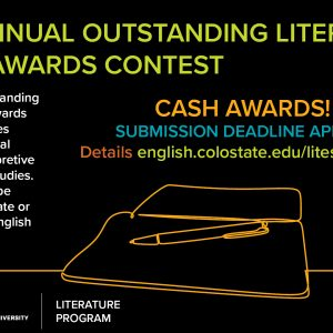 literary essay contest flyer 2020