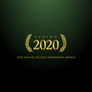 English Department 29th Annual Awards Banner