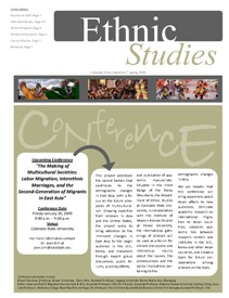Cover image of the Ethnic Studies Newsletter for 2009