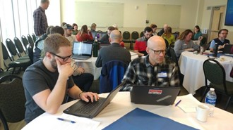 Poudre School District teachers and history department faculty gathered for professional development training