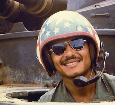 An army tank driver. Photo courtesy of Pete Seel.